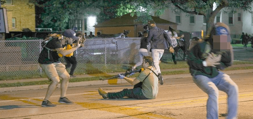 shooting dead two BLM protesters